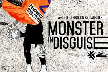 Solo exhibition by DARBOTZ, Monster in Disguise #2