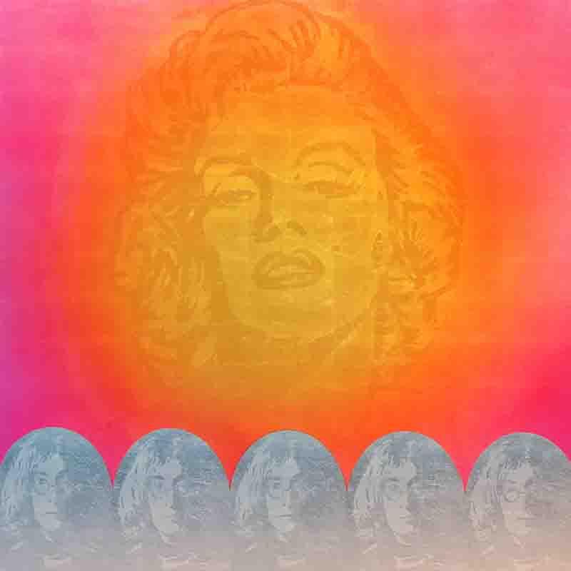 I3017 Marilyn-John Lennon 2 190 x 190 cm