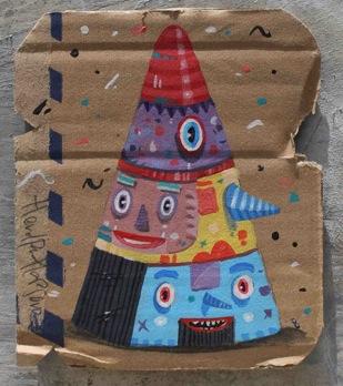 always good-acrylic on used cardboard-10x5x12,5cm-2012s