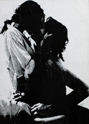 erik-pauhrizi-eating-speaking-kissingkissing-media-Embroidery-on-canvas-size-172-x-125-cm-2010