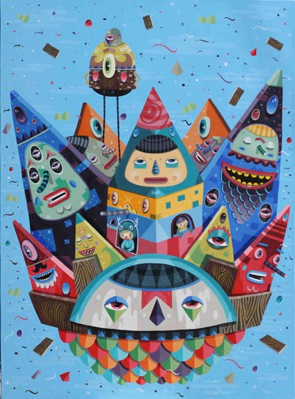 everybody want to be king-150x110cm-AOC-2012s