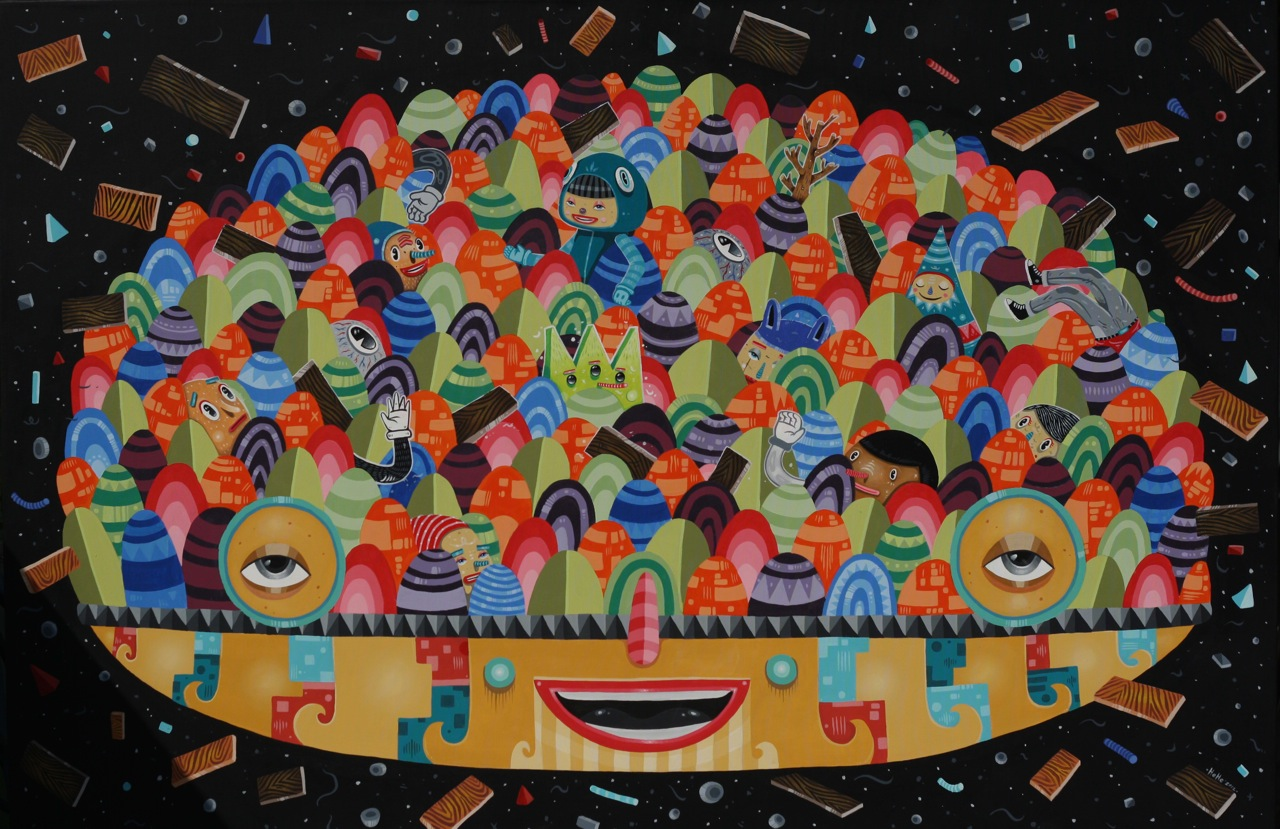 hendrahehe-today is part of yesterday-180x120cm-acrylic on canvas-2012