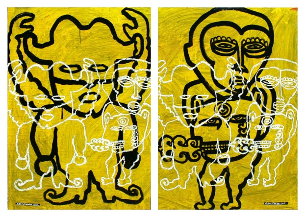 just you and me ( 2 panel @ 135cm x 95cm )