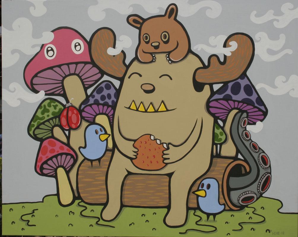"Menunggumu dengan Makan Siang di Ladang Jamur by Hendra""HeHe""Harsono"