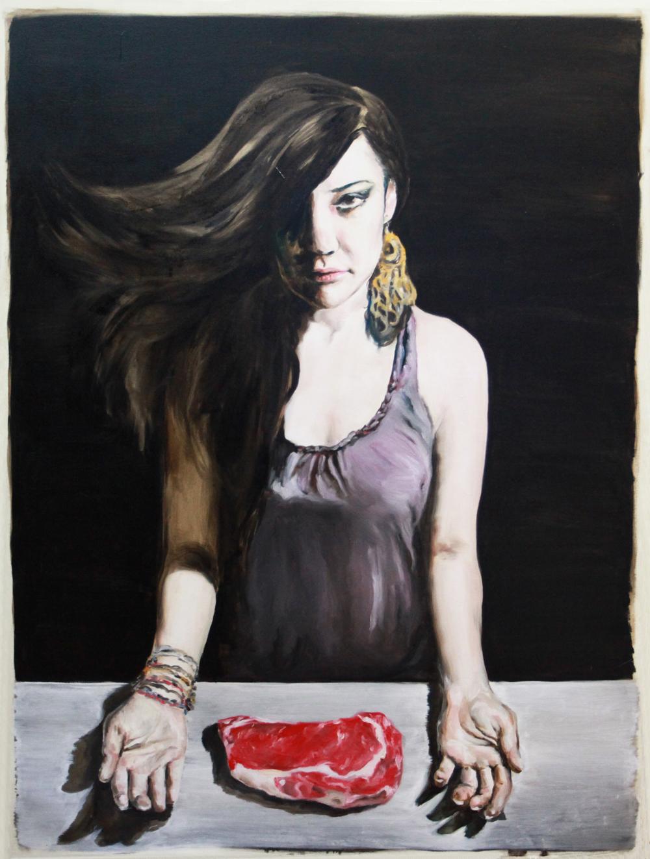 wagyu 120 x 90 cm 2012 oil on canvas - Wastu