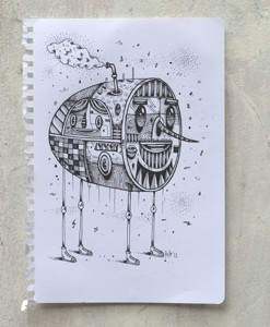 we produce what we sliced-ink on paper-2012